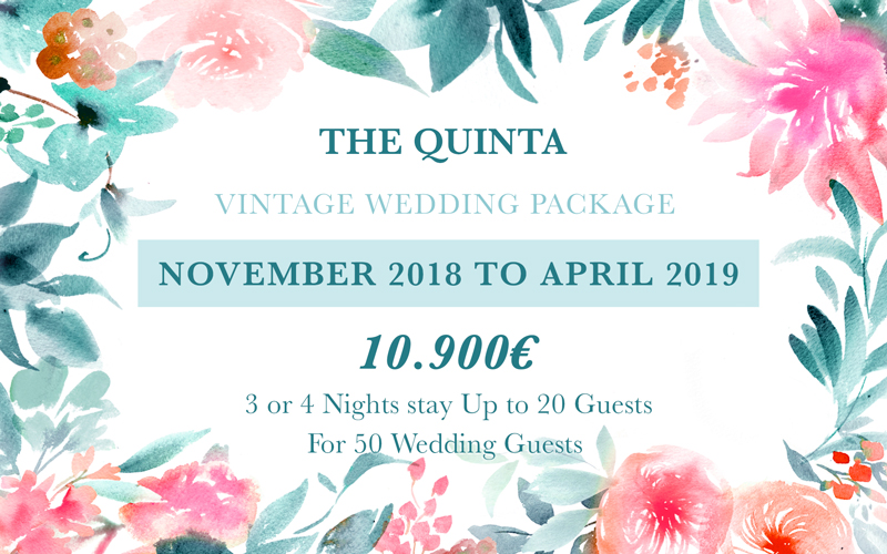 April November Vintage Wedding Package Portugal