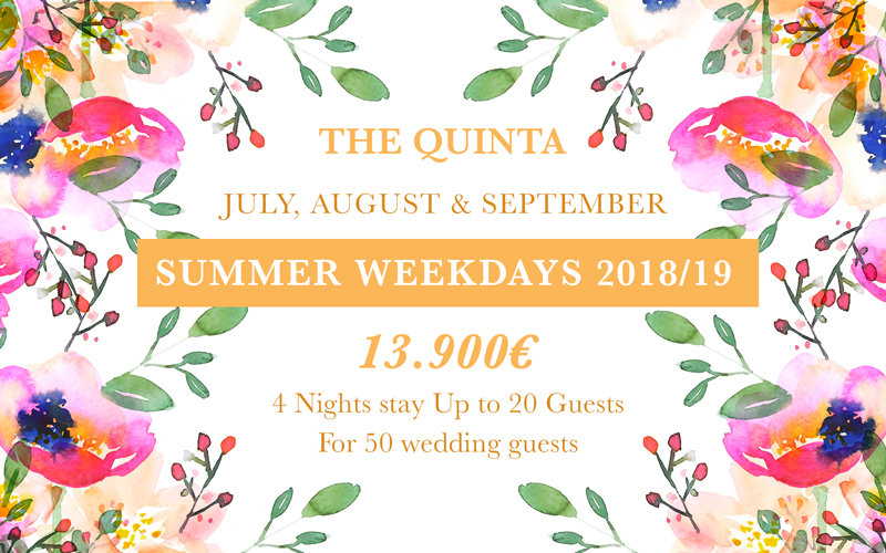 Weekdays Wedding Summer Package Portugal