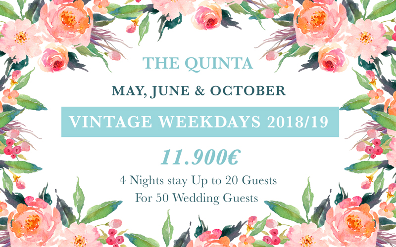 weekdays May June October Weekdays Wedding Package