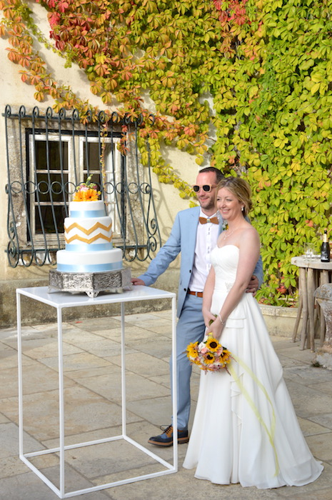 vintage orange wedding in the quinta