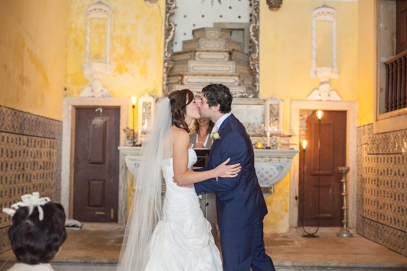 my vintage wedding in portugal wedding church