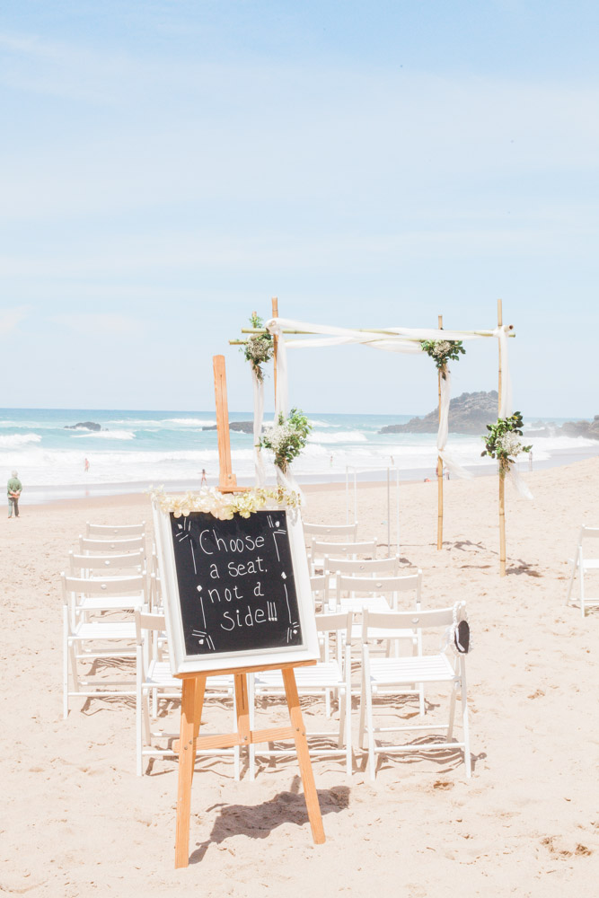 adraga beach wedding in portugal
