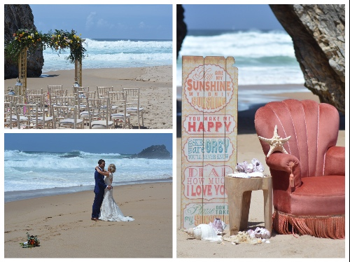 my vintage wedding portugal- beach wedding ceremony portugal