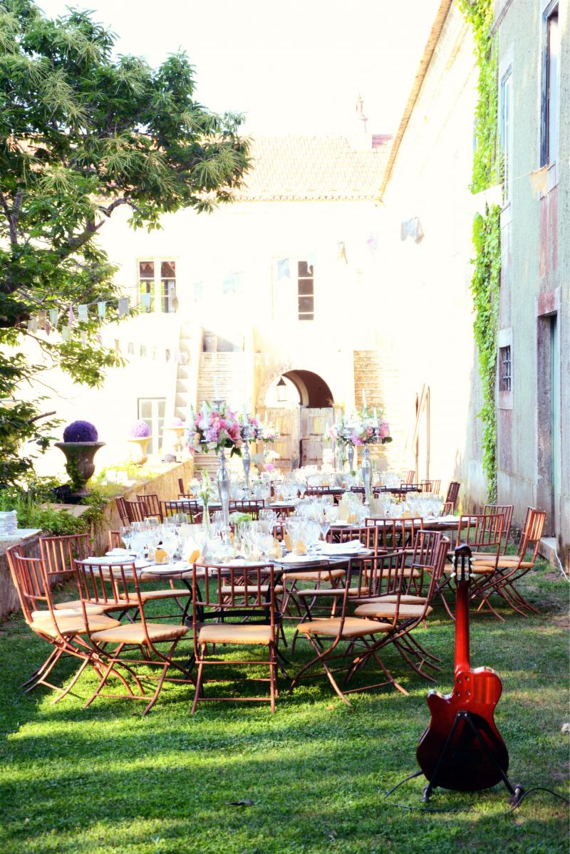 the quinta my vintage wedding reception in portugal