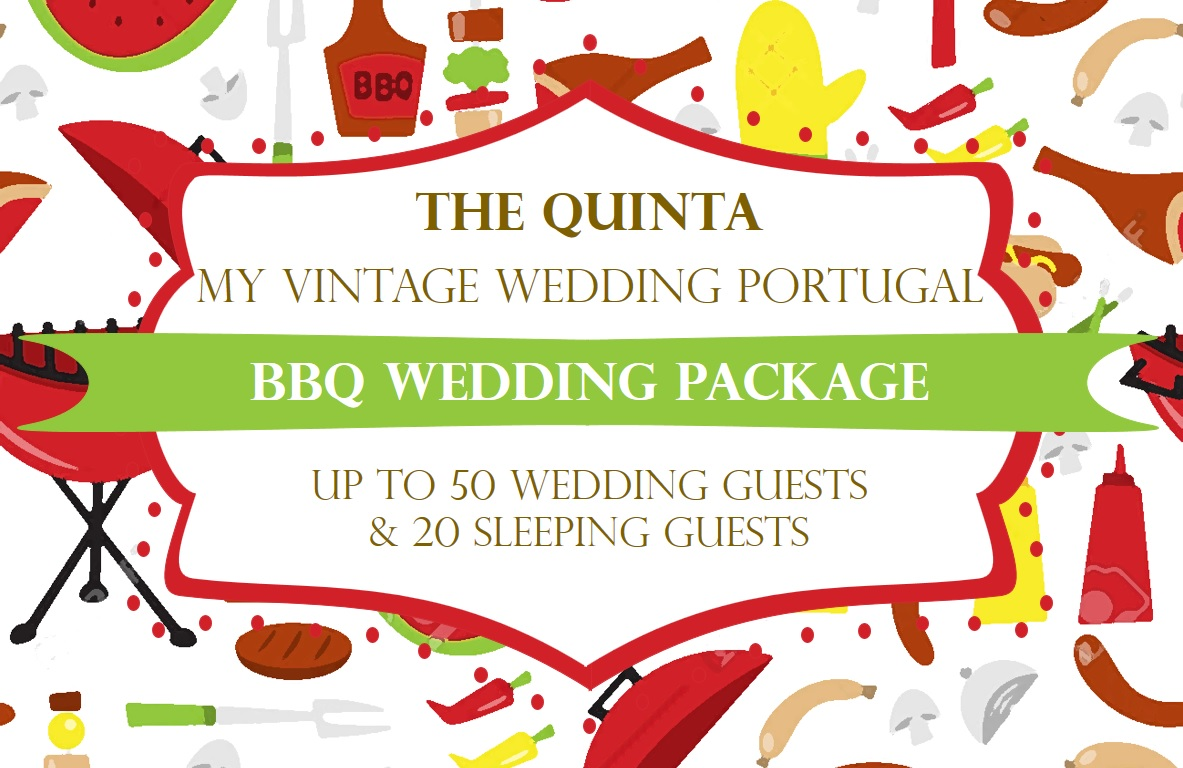 the quinta my vintage wedding in portugal bbq barbecue wedding