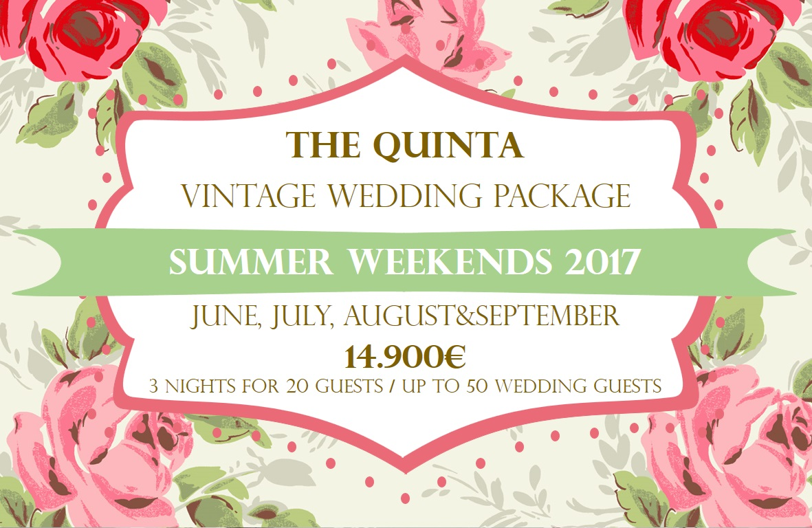 the quinta my vintage wedding in portugal summer weekends wedding package 2017