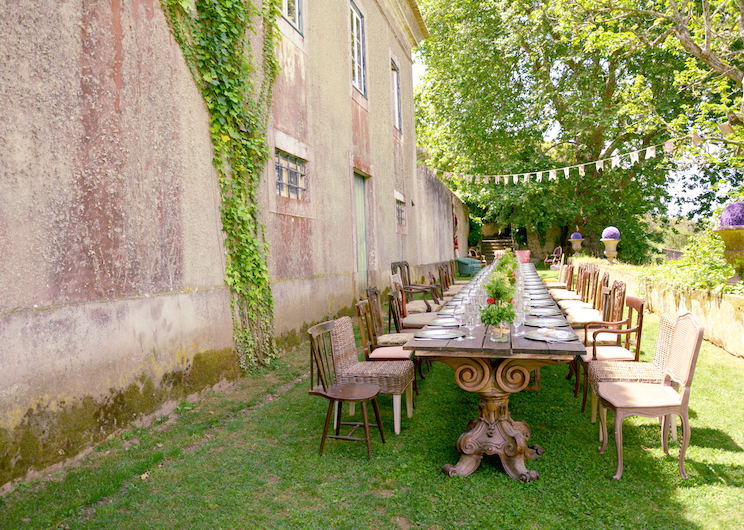 rustic vintage wedding reception at the quinta